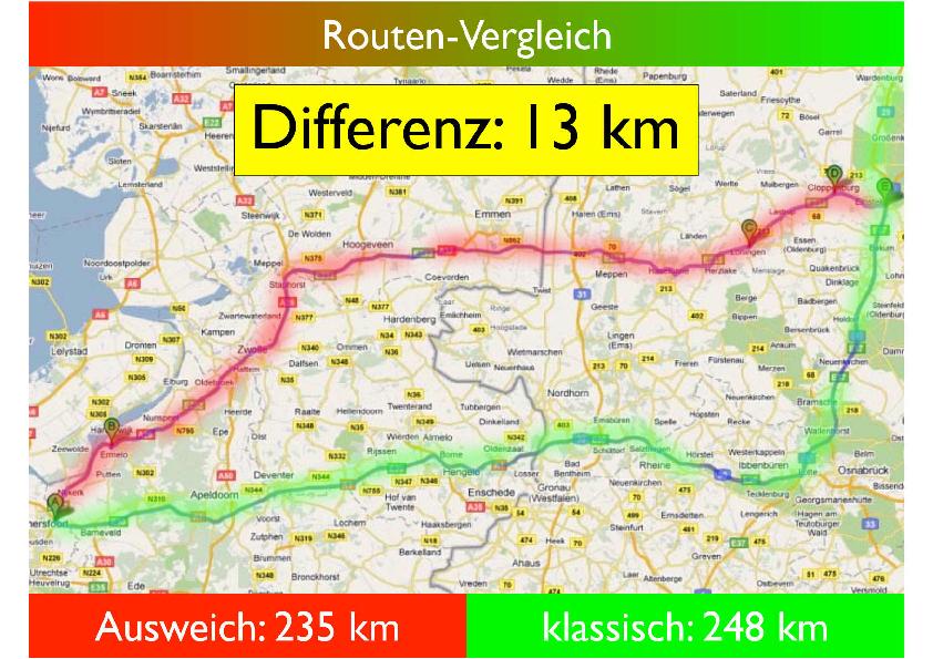 Routenvergleich